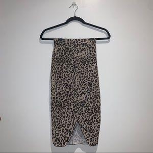 Pretty Little Thing Cheetah Print Skirt with Slit